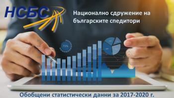 Обобщени статистически данни за превозени товари и реализирани обороти от членовете на НСБС за периода 2017 г. – 2020 г.